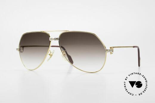 Cartier Vendome Santos - L Luxus Aviator Vintage Brille Details