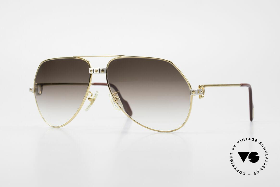 Cartier Vendome Santos - L Luxus Aviator Vintage Brille, Vendome = das berühmteste Brillendesign von CARTIER, Passend für Herren