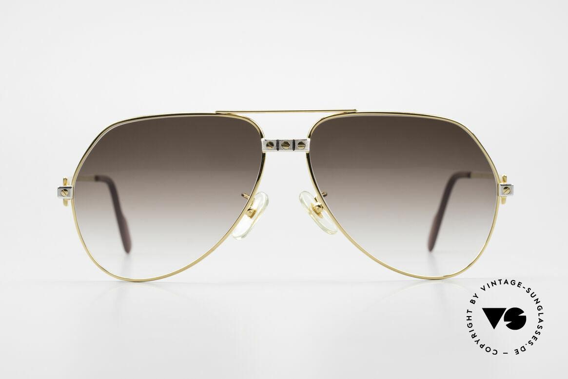 Cartier Vendome Santos - L Luxus Aviator Vintage Brille, wurde 1983 veröffentlicht und dann bis 1997 produziert, Passend für Herren