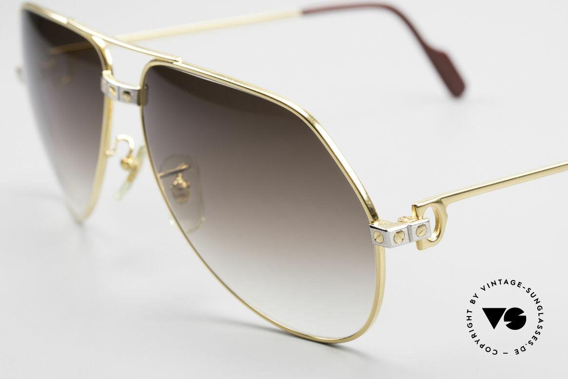 Cartier Vendome Santos - L Luxus Aviator Vintage Brille, ungetragen, inklusive orig. Verpackung (Sammlerstück), Passend für Herren