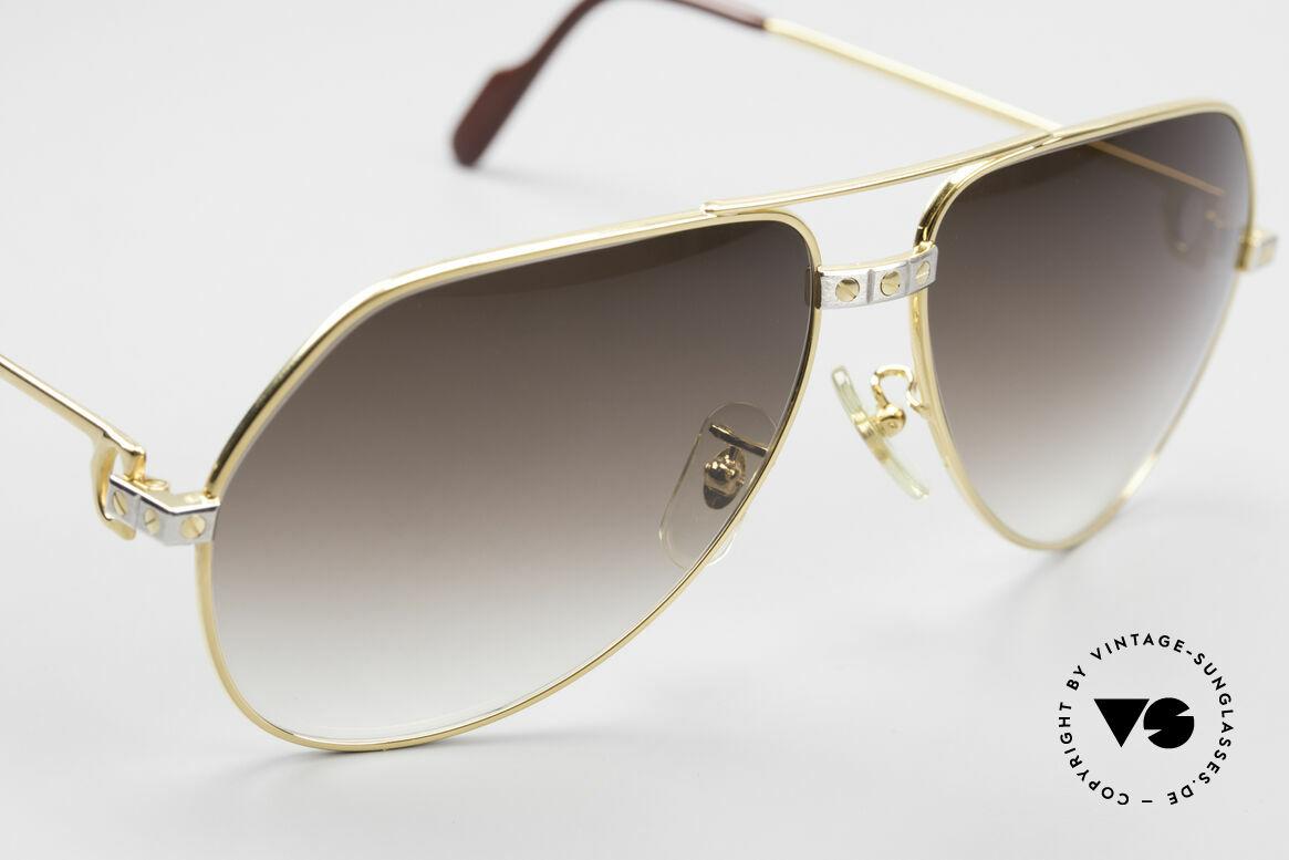 Cartier Vendome Santos - L Luxus Aviator Vintage Brille, KEINE Retrobrille, sondern ein altes vintage ORIGINAL!, Passend für Herren