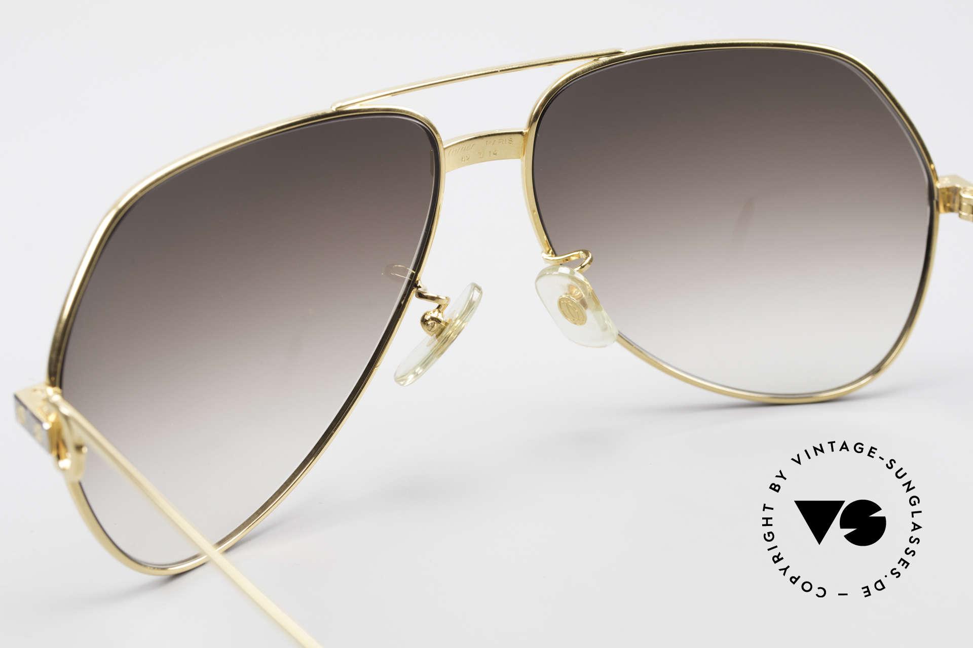 Cartier Vendome Santos - L Luxus Aviator Vintage Brille, '85 getragen v. Christopher Walken als BOND-Bösewicht, Passend für Herren