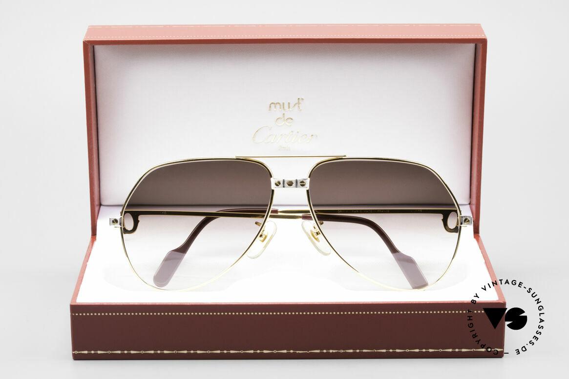 Cartier Vendome Santos - L Luxus Aviator Vintage Brille, Größe: large, Passend für Herren