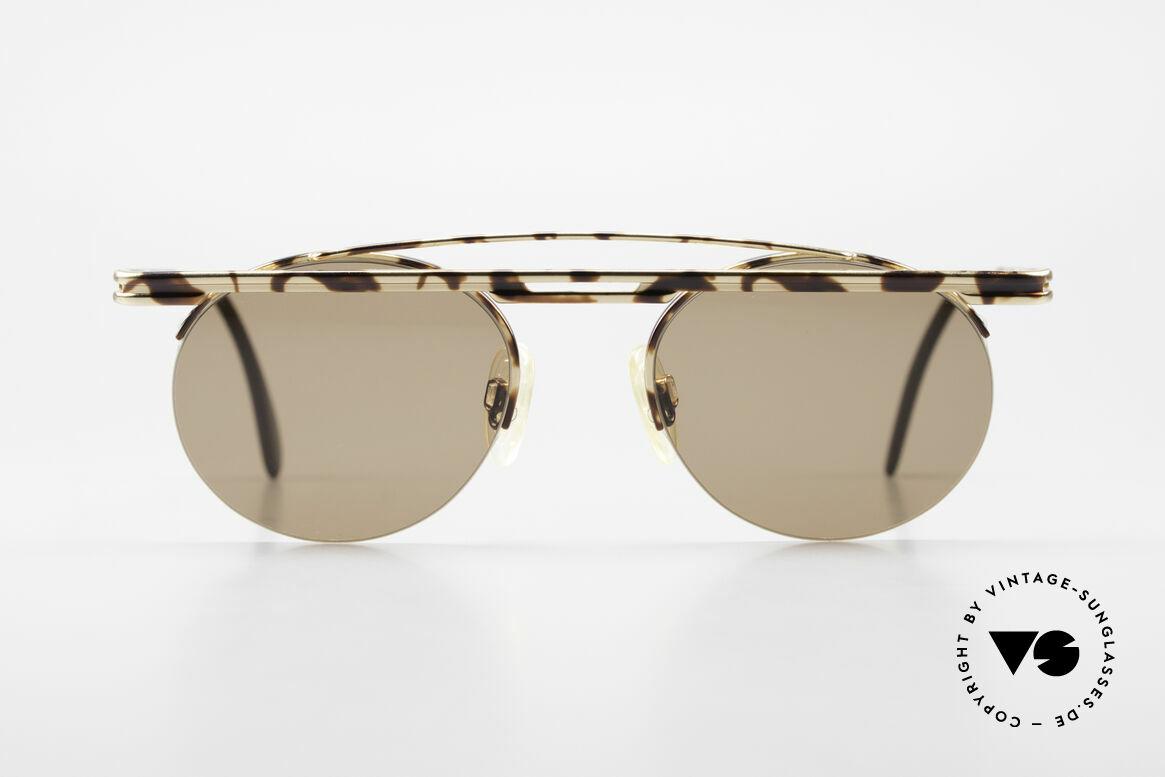 Cazal 748 90er Sonnenbrille No Retro, tolles geometrisches Spiel (rund und eckig zugleich), Passend für Herren und Damen