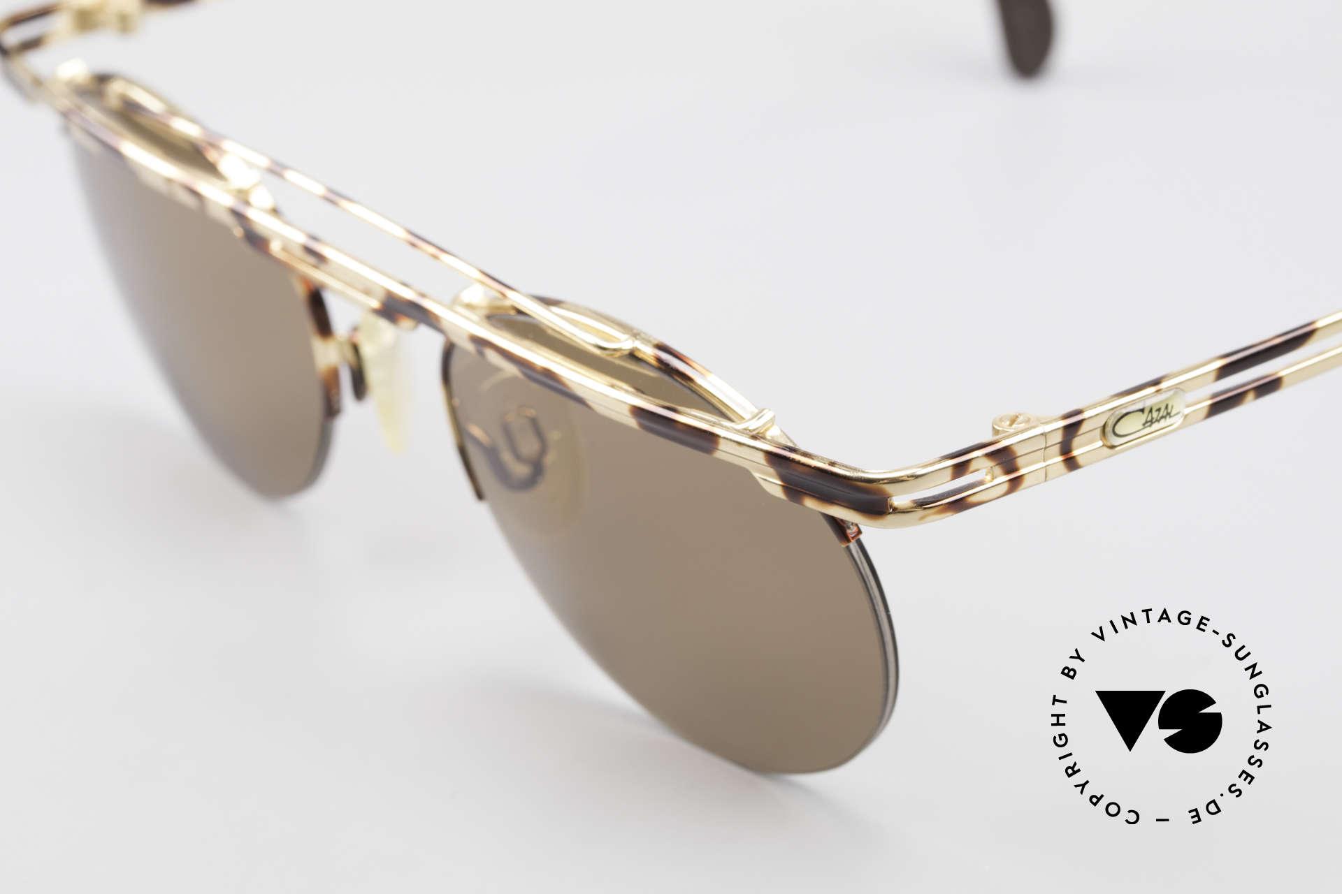 Cazal 748 90er Sonnenbrille No Retro, Cazal-Katalog Farbbezeichnung: gold-braun gefleckt, Passend für Herren und Damen