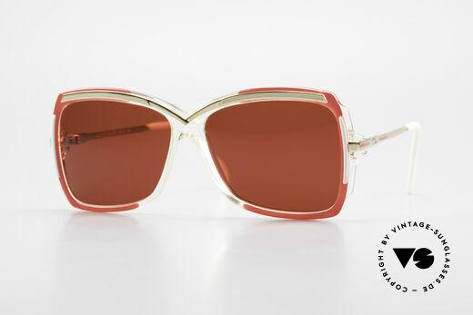 Cazal 177 3D Rot Designer Sonnenbrille Details