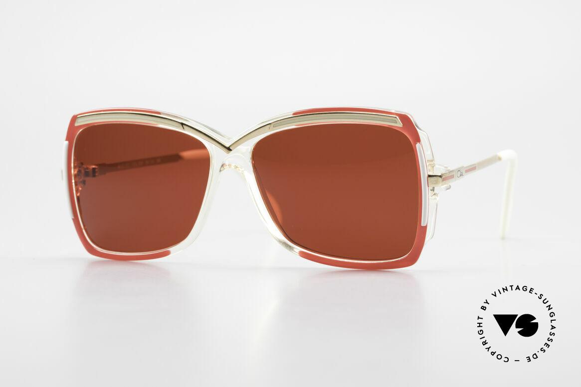 Cazal 177 3D Rot Designer Sonnenbrille, zauberhafte 80er CAZAL Designer-Sonnenbrille, Passend für Damen