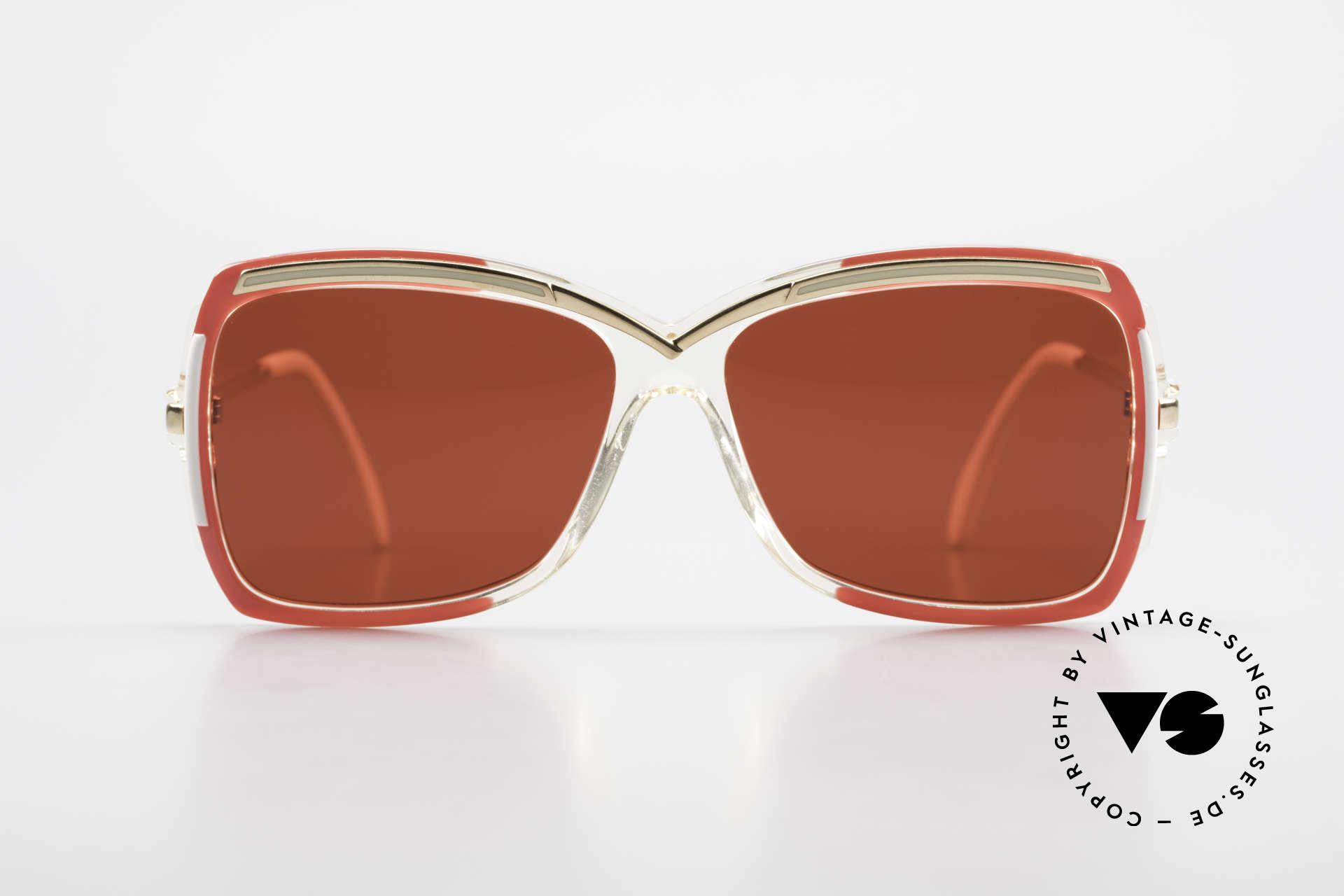Cazal 177 3D Rot Designer Sonnenbrille, ein tolles altes Original und ein echter Hingucker, Passend für Damen
