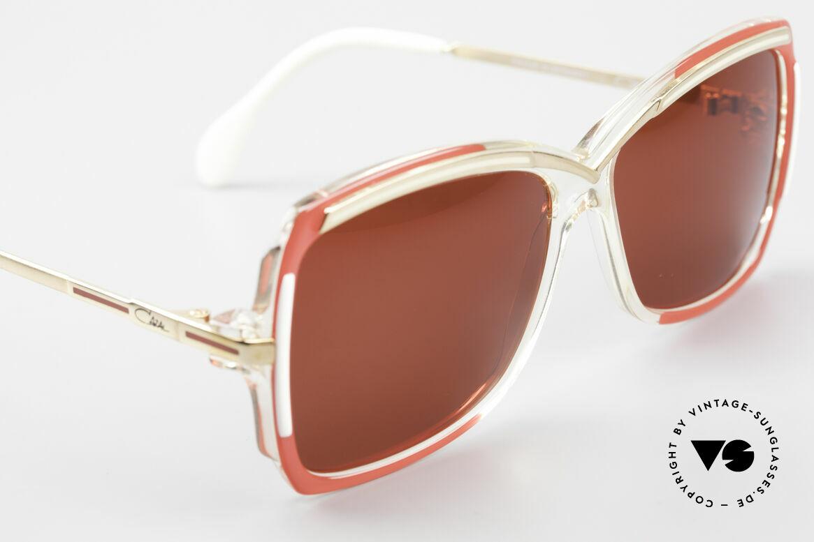 Cazal 177 3D Rot Designer Sonnenbrille, KEINE Retromode; ein 80er Original in Gr. SMALL, Passend für Damen