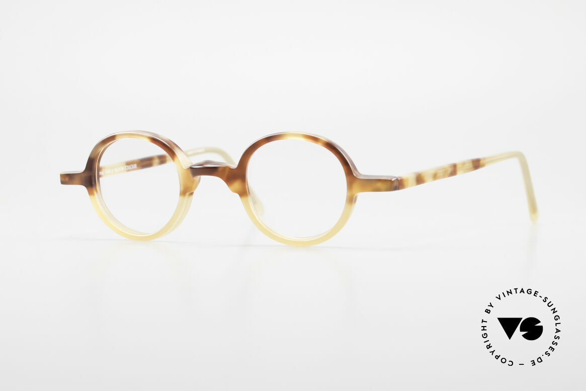 Anne Et Valentin Albert Runde Alte 80er Vintage Brille, runde vintage Brille von 'Anne Et Valentin' aus Toulouse, Passend für Herren und Damen