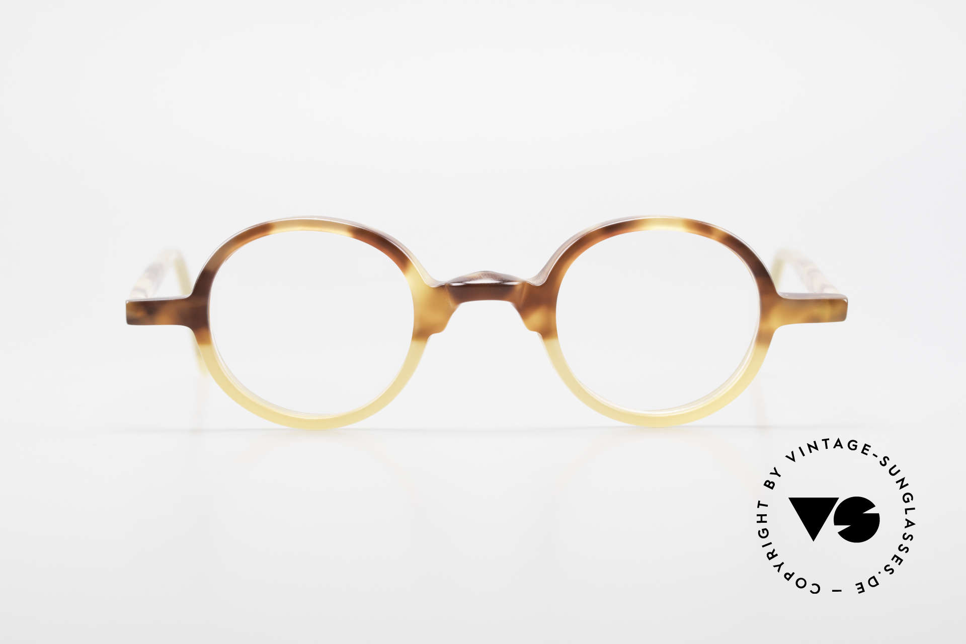 Anne Et Valentin Albert Runde Alte 80er Vintage Brille, das Ehepaar Anne (Künstlerin) und Valentin (Optiker), Passend für Herren und Damen