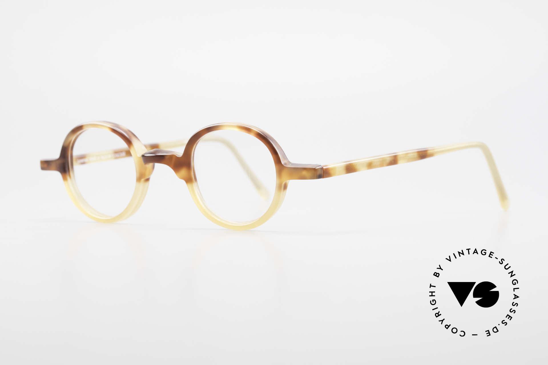 Anne Et Valentin Albert Runde Alte 80er Vintage Brille, kreieren und leben seit 1980 für ihre eigene Kollektion, Passend für Herren und Damen
