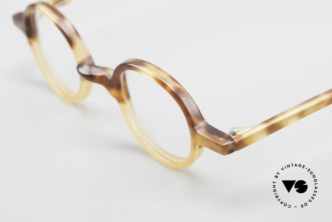 Anne Et Valentin Albert Runde Alte 80er Vintage Brille, aus Energie, Licht, Material, Linie, Kontrast und Farbe, Passend für Herren und Damen