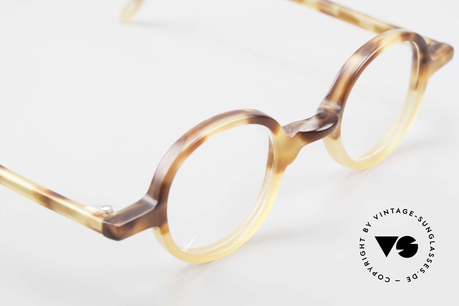 Anne Et Valentin Albert Runde Alte 80er Vintage Brille, dieses Modell stammt noch aus den Anfängen von A&V, Passend für Herren und Damen