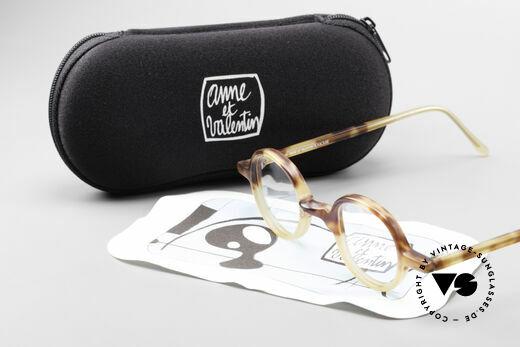 Anne Et Valentin Albert Runde Alte 80er Vintage Brille, ungetragenes Einzelstück aus den 80ern (mit orig. Etui), Passend für Herren und Damen