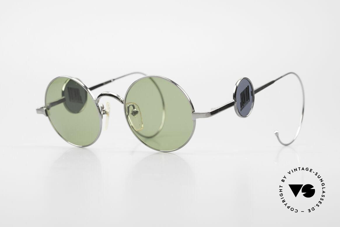 Jean Paul Gaultier 58-0103 4Scheiben Design Seitenblenden, äußerst kreative vintage Sonnenbrille von J.P. Gaultier, Passend für Herren und Damen