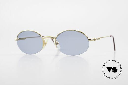 Cartier Manhattan Ovale Luxus Sonnenbrille 90er Details