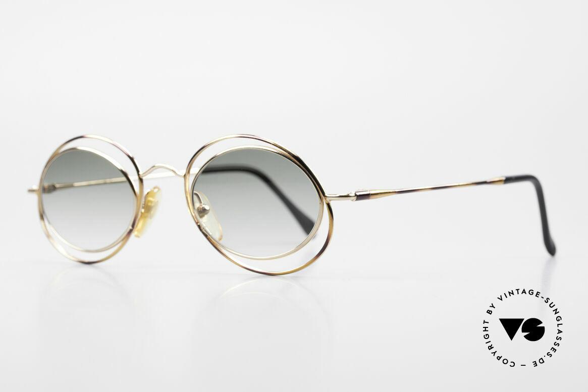 Casanova LC16 Zauberhafte Sonnenbrille, grandioses Rahmenmuster in gold, bronze / schildpatt, Passend für Damen