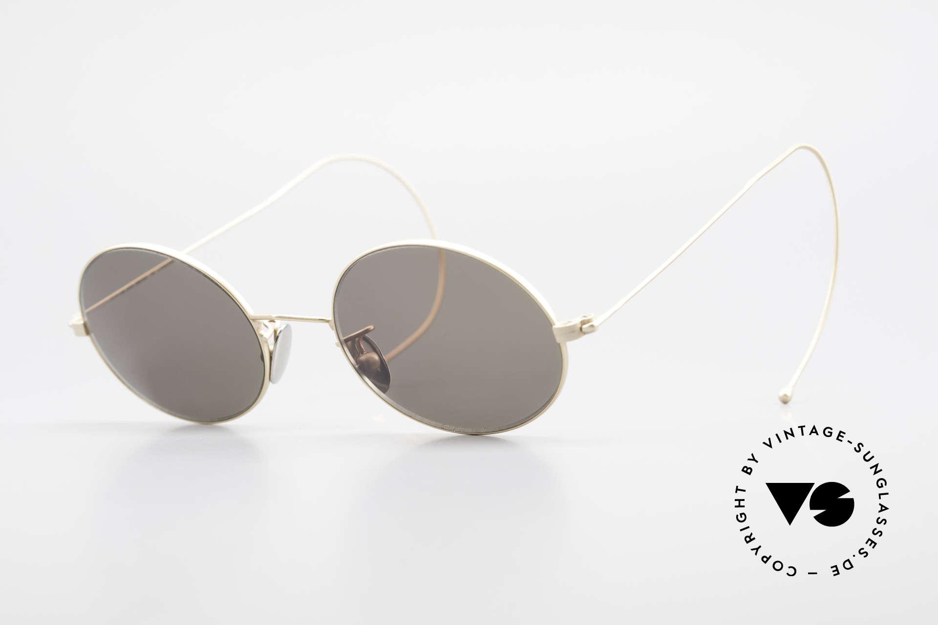 Cutler And Gross 0410 Ovale Brille Mit Sportbügeln, Cutler & Gross London Designerbrille der späten 90er, Passend für Herren und Damen