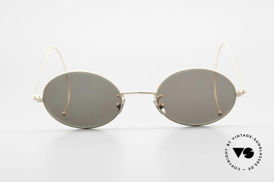 Cutler And Gross 0410 Ovale Brille Mit Sportbügeln, klassisch, zeitlose Understatement Luxus-Sonnenbrille, Passend für Herren und Damen