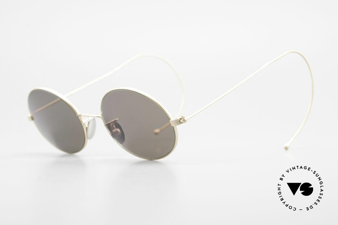 Cutler And Gross 0410 Ovale Brille Mit Sportbügeln, stilvoll & unverwechselbar; auch ohne pompöse Logos, Passend für Herren und Damen