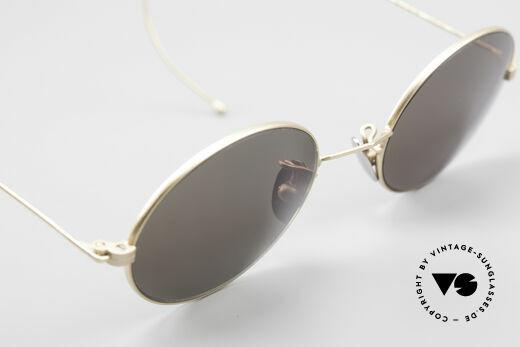 Cutler And Gross 0410 Ovale Brille Mit Sportbügeln, Größe: small, Passend für Herren und Damen