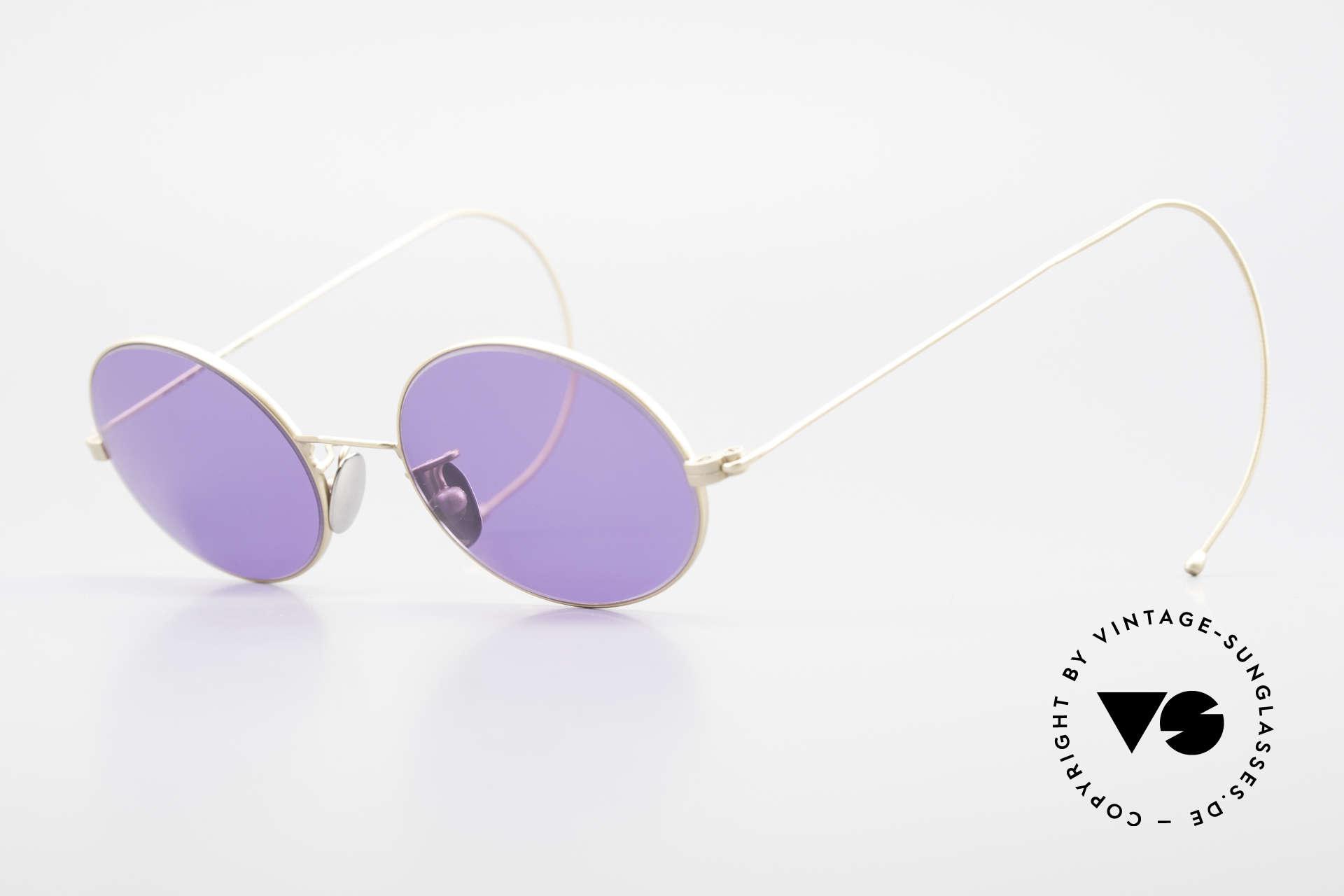 Cutler And Gross 0410 Ovale Sportbügel Sonnenbrille, Cutler & Gross London Designerbrille der späten 90er, Passend für Herren und Damen