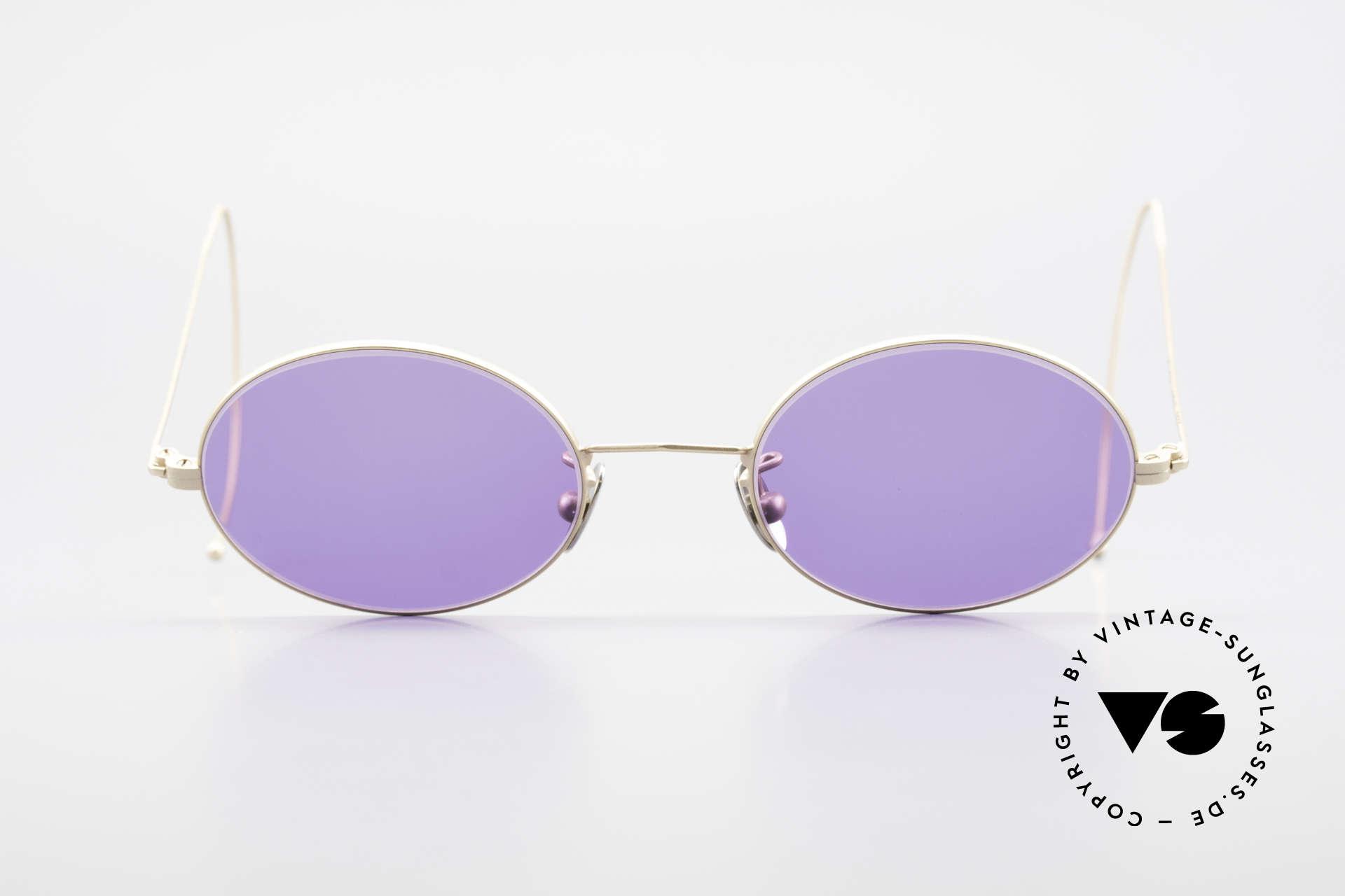 Cutler And Gross 0410 Ovale Sportbügel Sonnenbrille, klassisch, zeitlose Understatement Luxus-Sonnenbrille, Passend für Herren und Damen