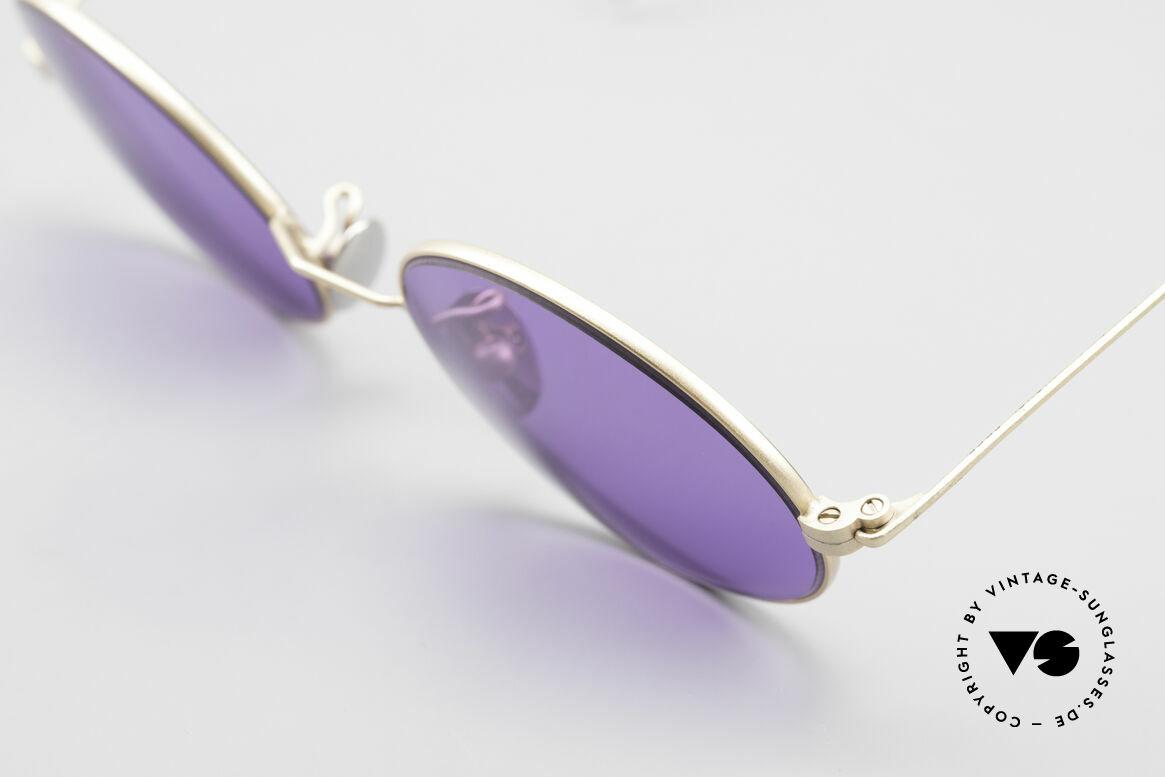 Cutler And Gross 0410 Ovale Sportbügel Sonnenbrille, ungetragen; Modell ist auch beliebig optisch verglasbar, Passend für Herren und Damen
