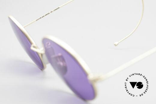 Cutler And Gross 0410 Ovale Sportbügel Sonnenbrille, KEINE Retrobrille, sondern ein 20 Jahre altes Original!, Passend für Herren und Damen
