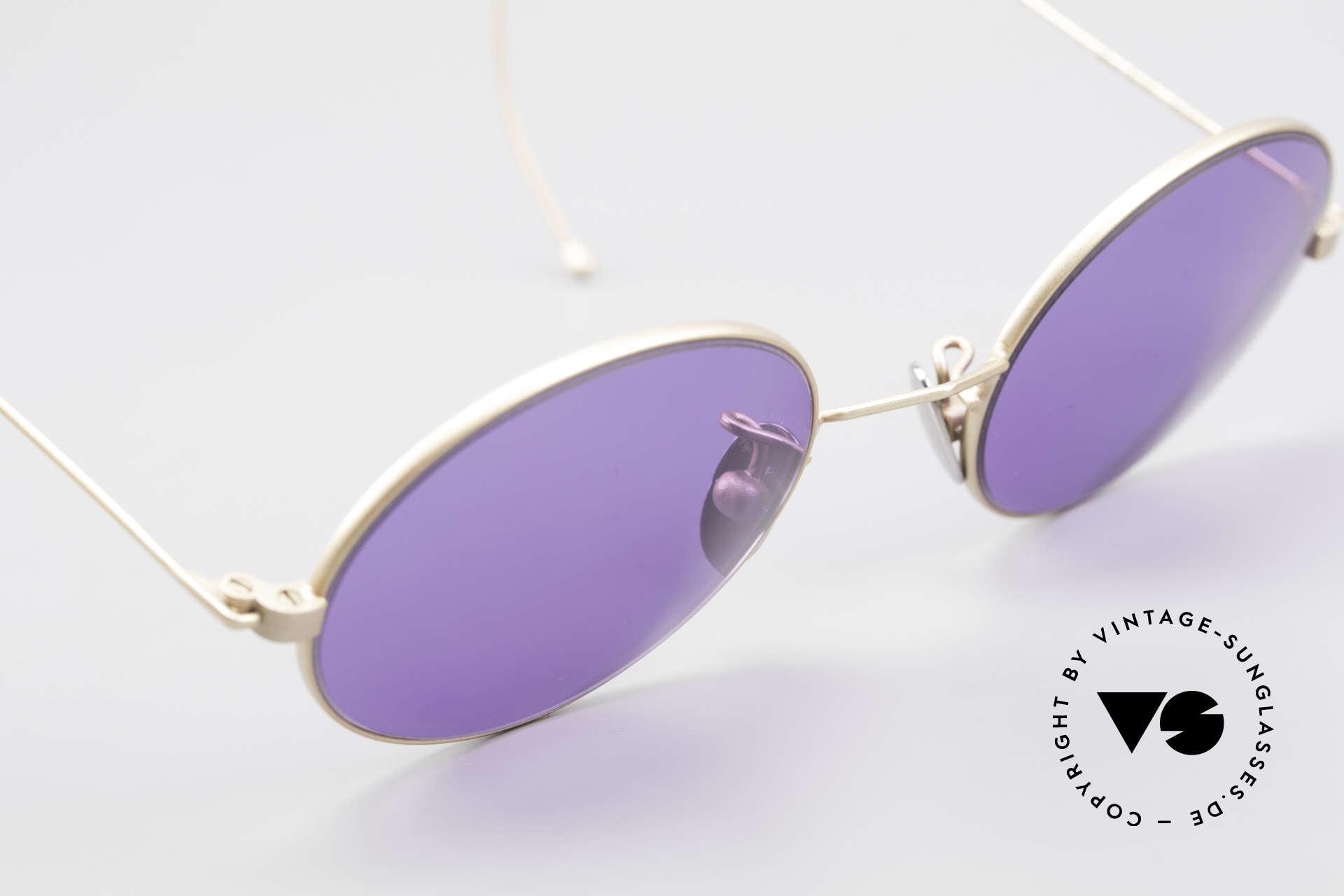 Cutler And Gross 0410 Ovale Sportbügel Sonnenbrille, Größe: small, Passend für Herren und Damen