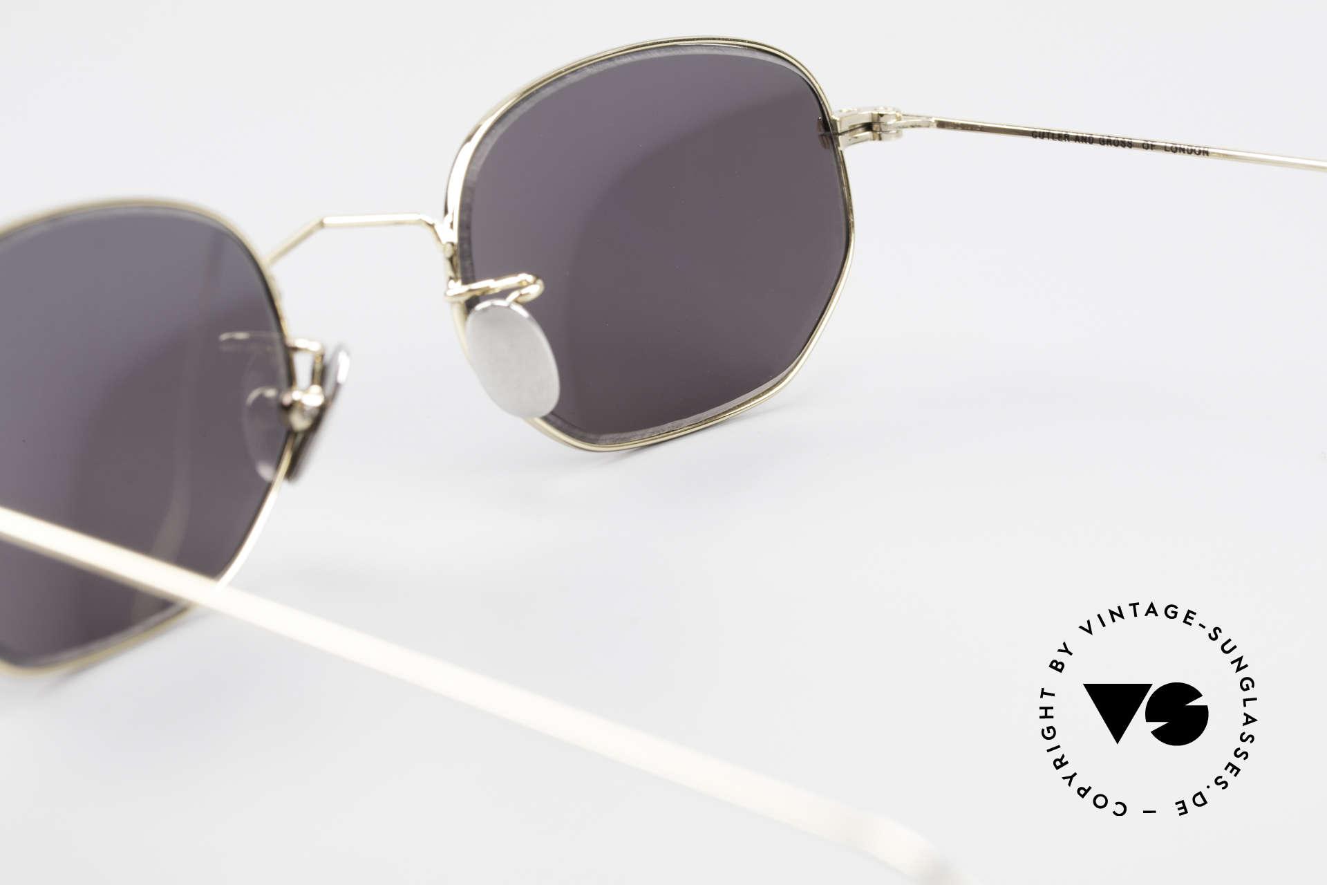 Cutler And Gross 0370 Klassische Sonnenbrille 90er, KEINE Retrobrille, sondern ein 20 Jahre altes Original!, Passend für Herren und Damen