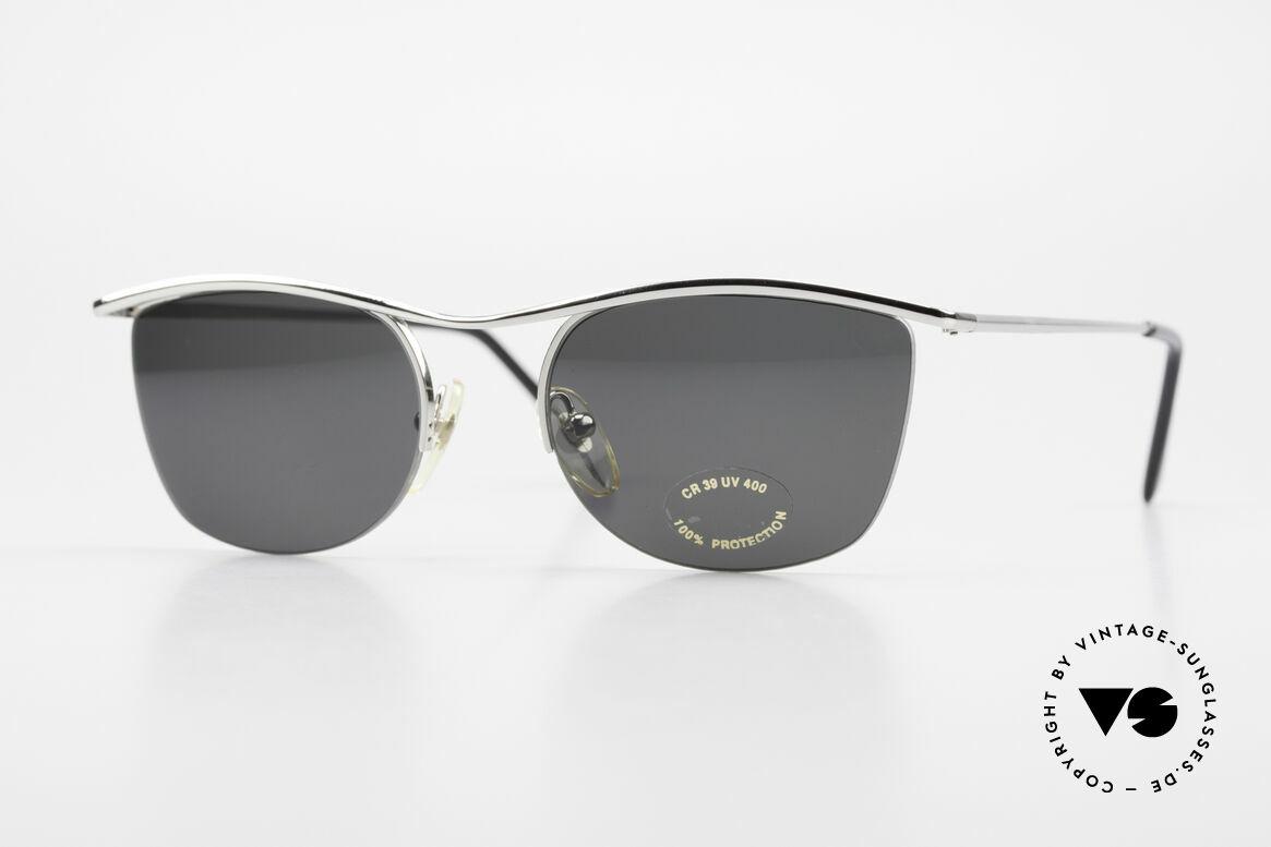 Cutler And Gross 0422 Halb Randlose Sonnenbrille, Cutler & Gross London Designerbrille der späten 90er, Passend für Herren und Damen