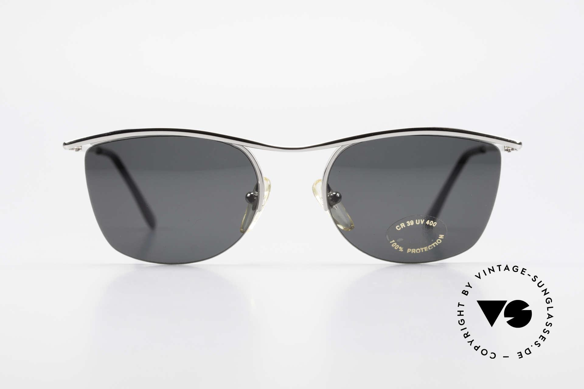 Cutler And Gross 0422 Halb Randlose Sonnenbrille, klassisch, zeitlose Understatement Luxus-Sonnenbrille, Passend für Herren und Damen