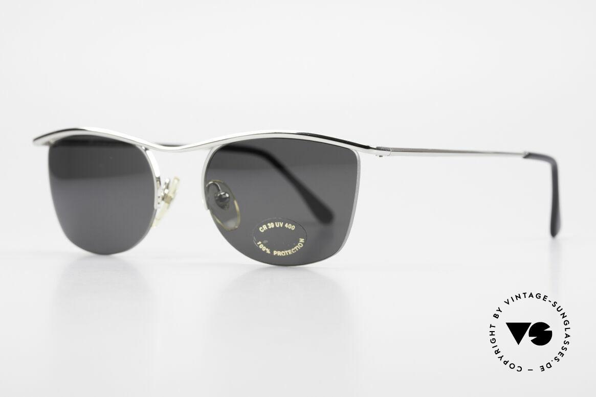 Cutler And Gross 0422 Halb Randlose Sonnenbrille, stilvoll & unverwechselbar; auch ohne pompöse Logos, Passend für Herren und Damen