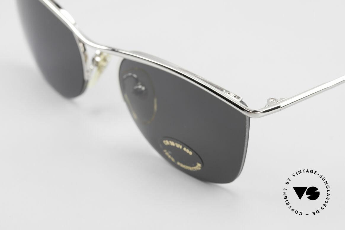 Cutler And Gross 0422 Halb Randlose Sonnenbrille, halb randlos: Gläser sind mit einem Nylor-Faden gefasst, Passend für Herren und Damen