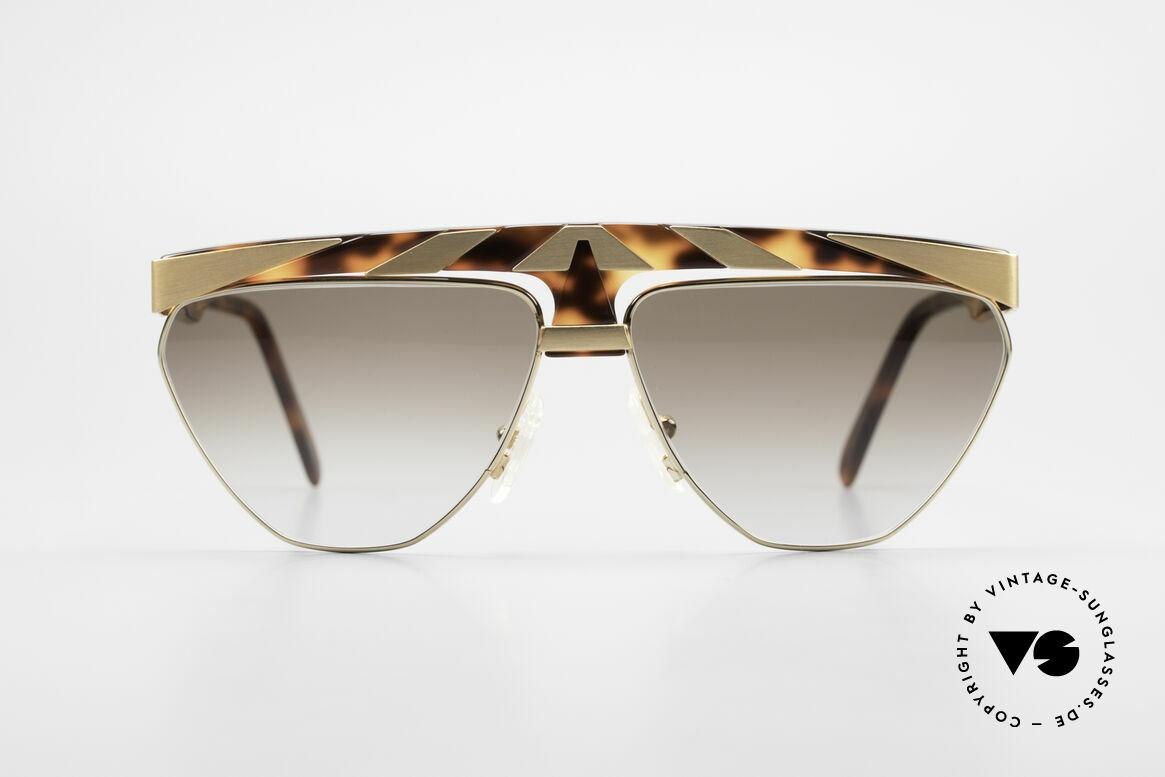 Alpina G84 Vergoldete 80er Sonnenbrille, außergewöhnliches Brillendesign in Farbe und Form, Passend für Herren und Damen