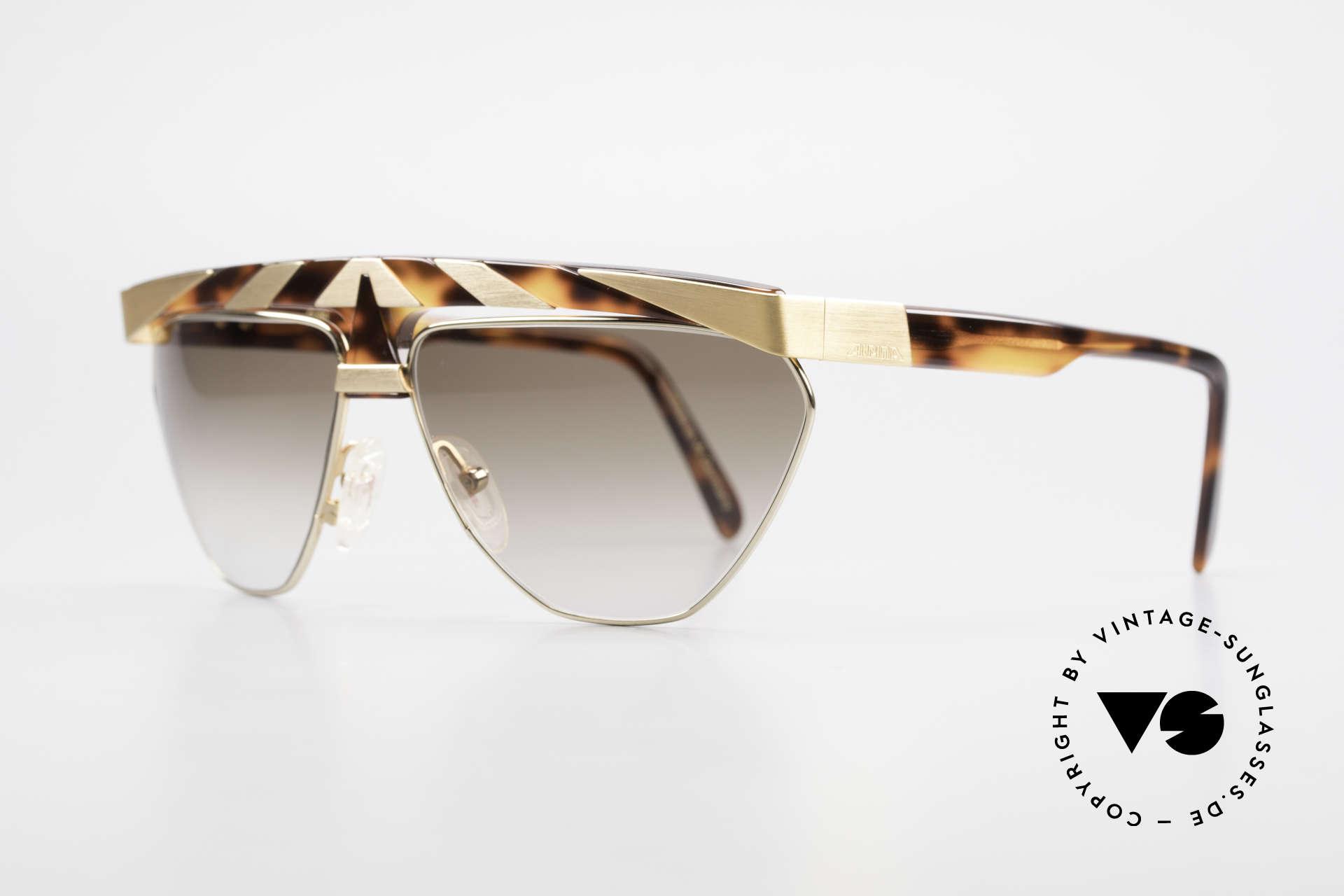 Alpina G84 Vergoldete 80er Sonnenbrille, echte Handarbeit aus den 80ern (made in W.Germany), Passend für Herren und Damen