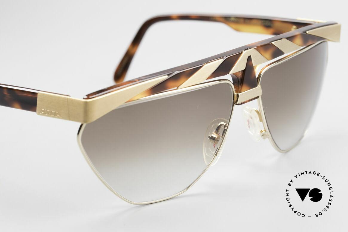 Alpina G84 Vergoldete 80er Sonnenbrille, ungetragen (wie alle unsere vintage ALPINA Brillen), Passend für Herren und Damen
