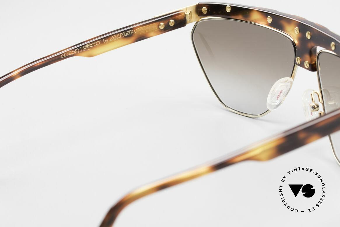Alpina G84 Vergoldete 80er Sonnenbrille, Größe: medium, Passend für Herren und Damen