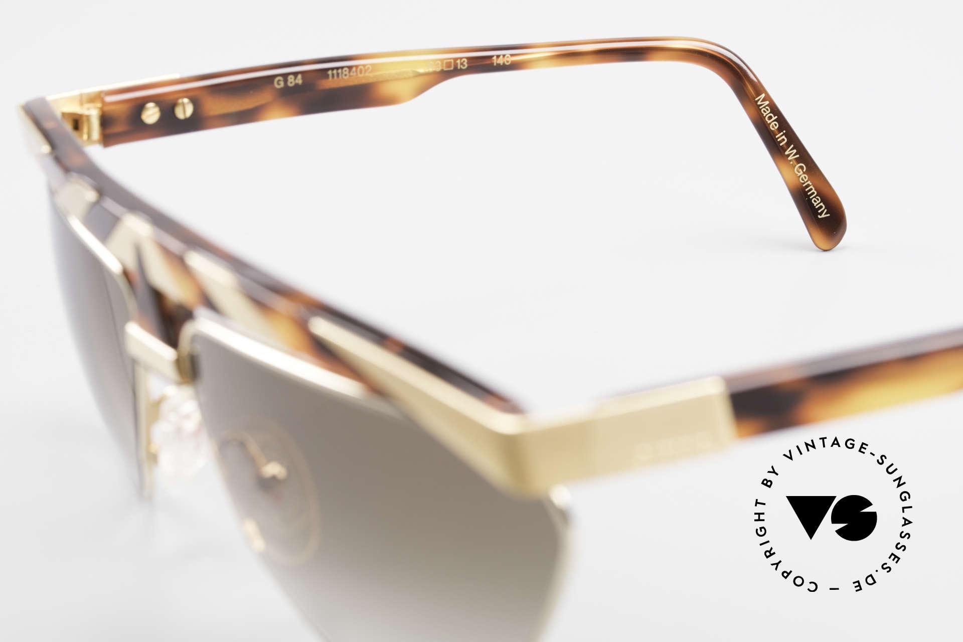 Alpina G84 Vergoldete 80er Sonnenbrille, KEINE RETROMODE; sondern ein altes 80er ORIGINAL, Passend für Herren und Damen