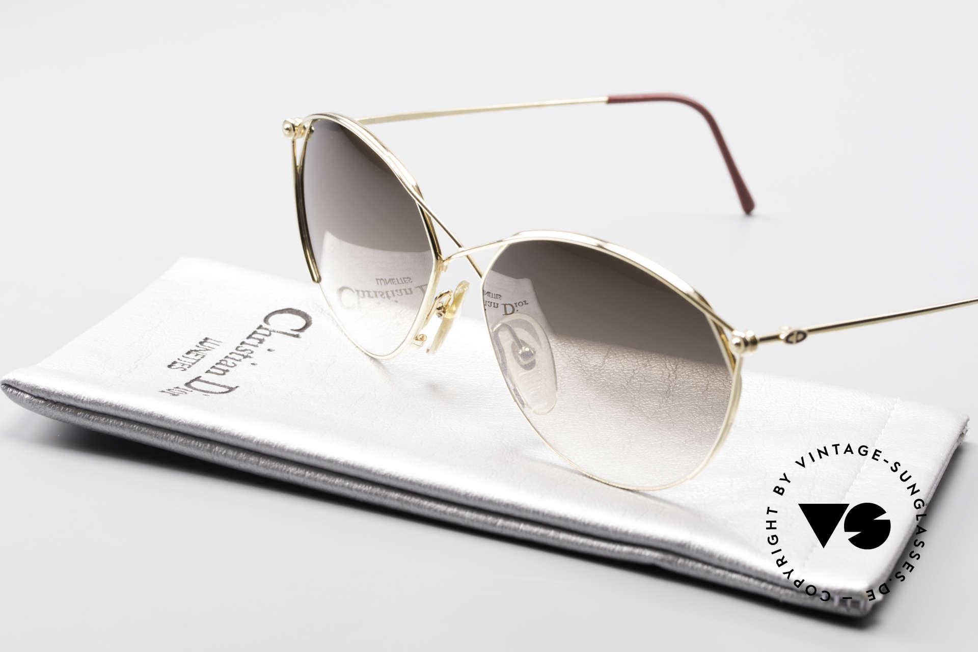 Christian Dior 2390 Damen Designer Sonnenbrille, Sonnengläser in braun-Verlauf: 100% UV Protection, Passend für Damen