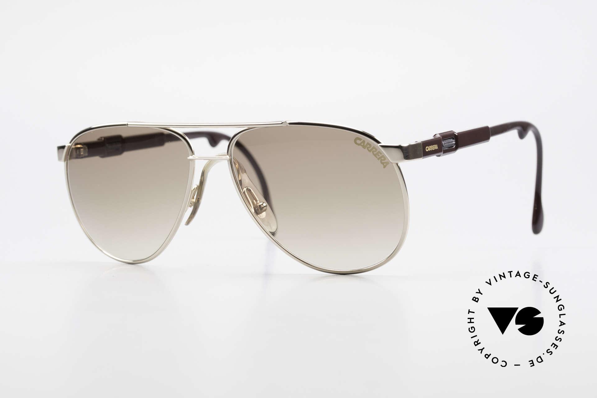 Carrera 5348 80er Vario Sport Sonnenbrille, brilliantes 80er Jahre Carrera Design, Gr. 56°15, Passend für Herren und Damen