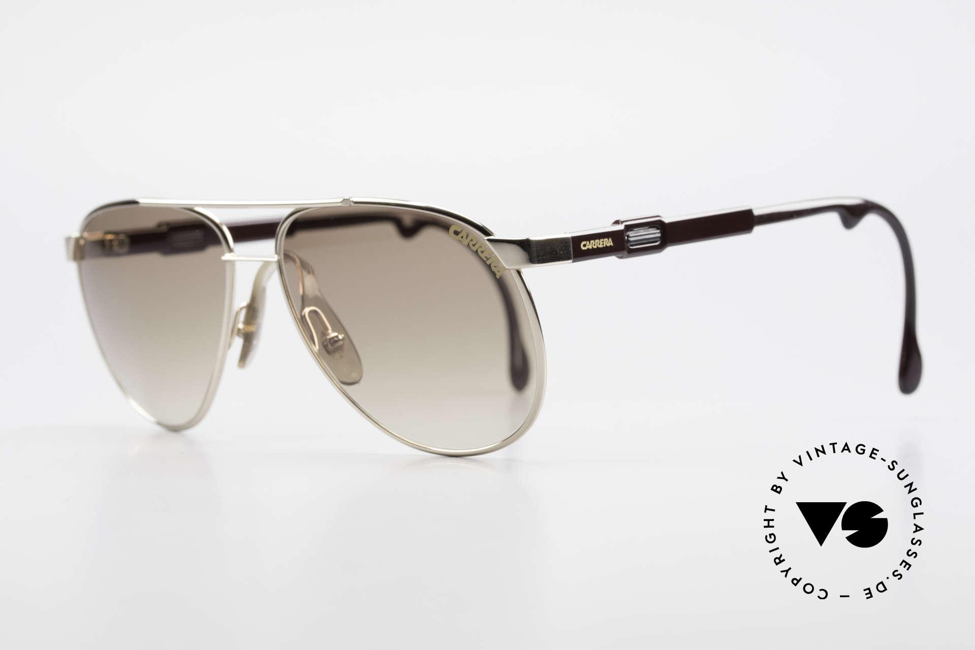 Carrera 5348 80er Vario Sport Sonnenbrille, variable Bügellänge durch Carrera Vario System, Passend für Herren und Damen