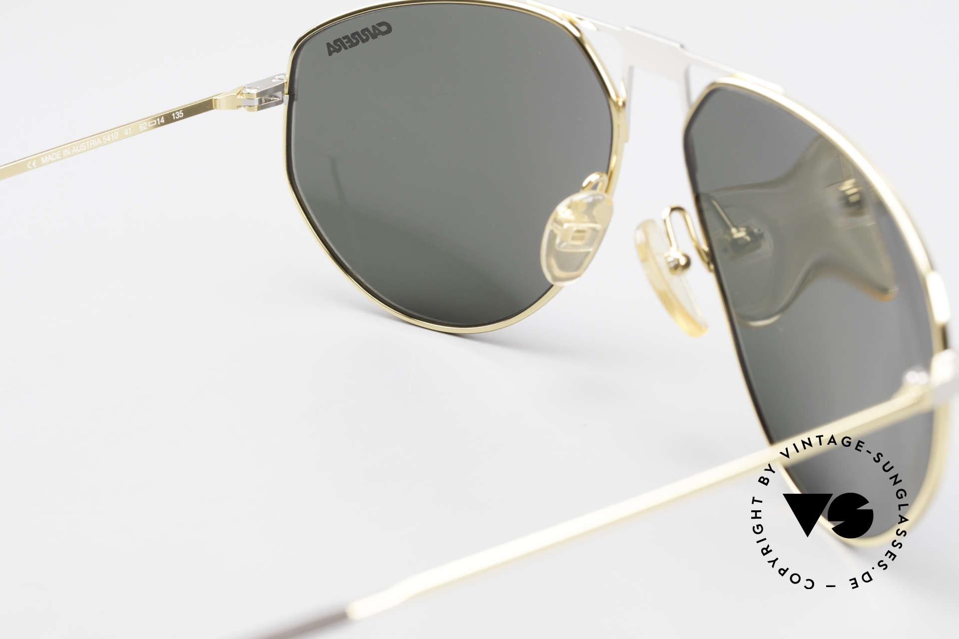 Carrera 5410 90er Vintage Brille Herren, Metallfassung könnte auch optisch verglast werden, Passend für Herren