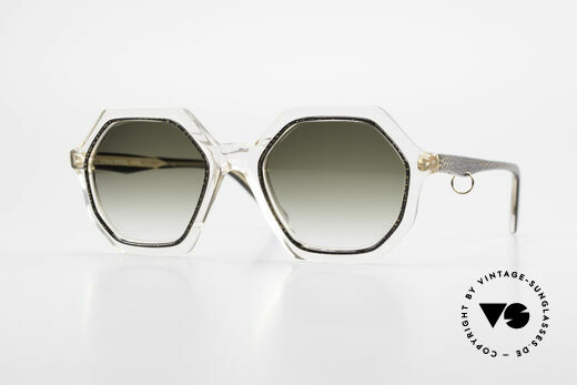 Sonia Rykiel SR46 727 70er Sonnenbrille Achteckig Details