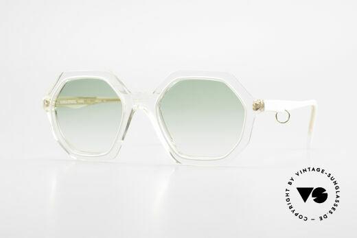 Sonia Rykiel SR46 444 Achteckige Sonnenbrille 70er Details