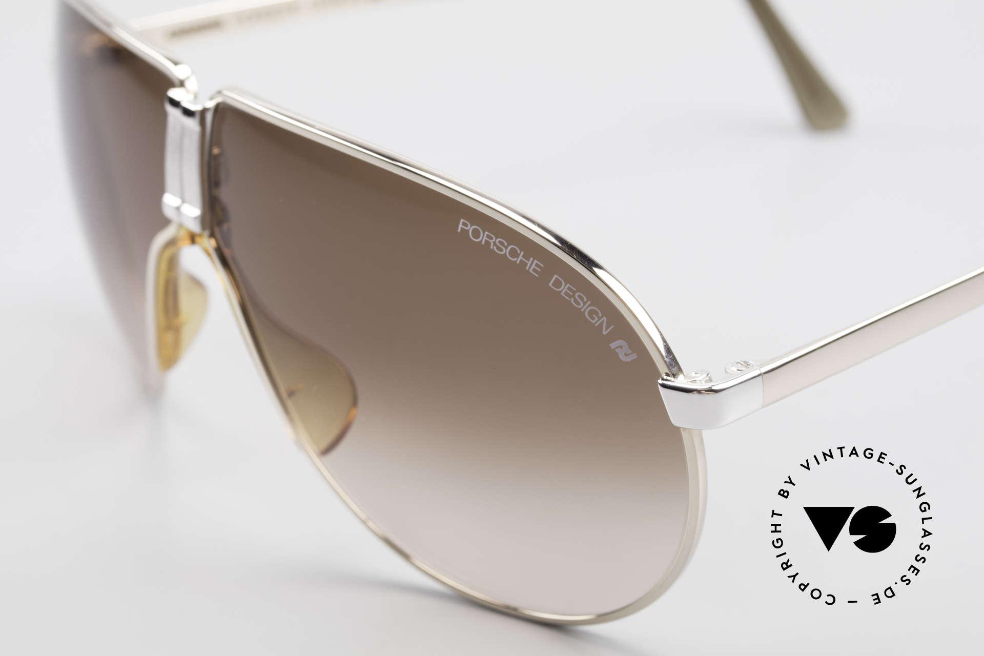 Porsche 5622 80er Luxus Faltsonnenbrille, edles Luxusmodell in absoluter Top-Qualität; 100% UV, Passend für Herren