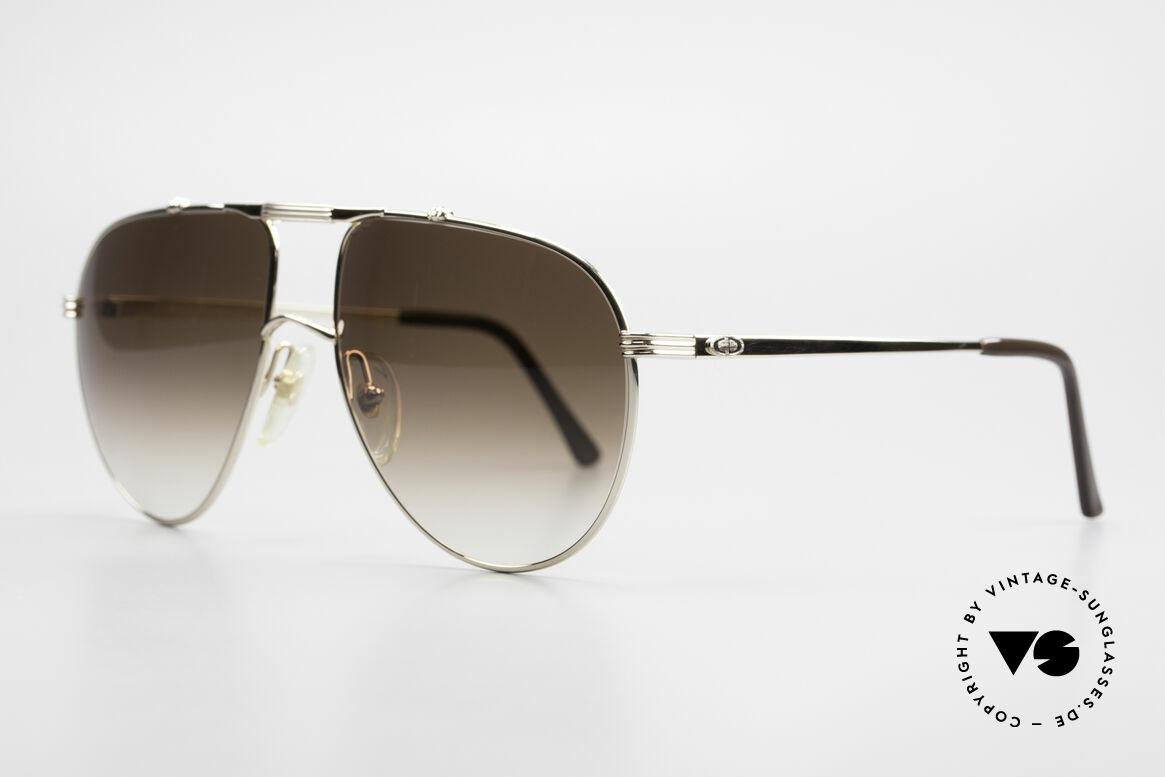 Christian Dior 2248 XL 80er Herren Sonnenbrille, klassische Pilotenform in XL-Gr. 60-17 (145mm breit), Passend für Herren