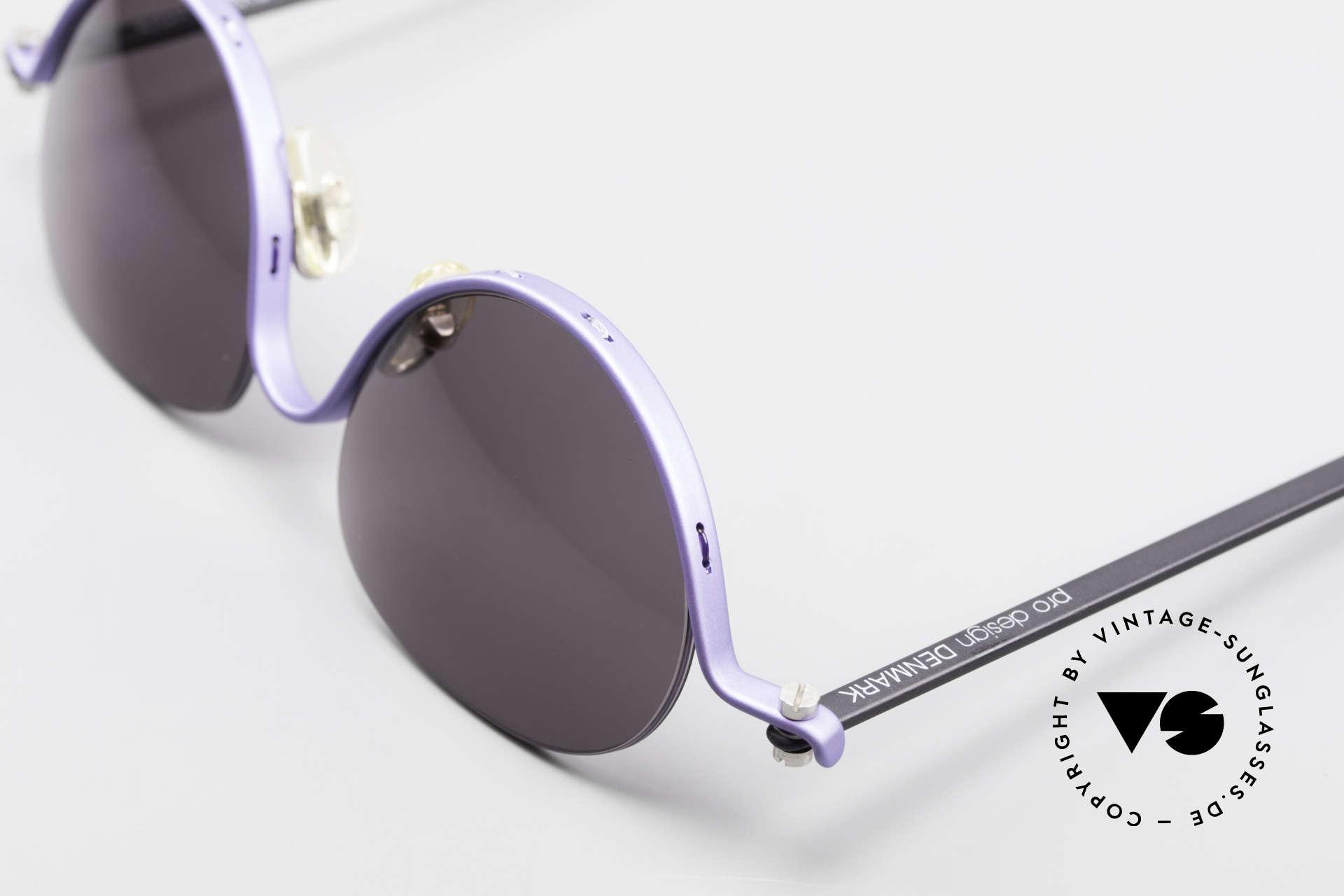 ProDesign No8 Gail Spence Designer Brille, grandioses Einzelstück; nicht nur für Filmliebhaber, Passend für Damen
